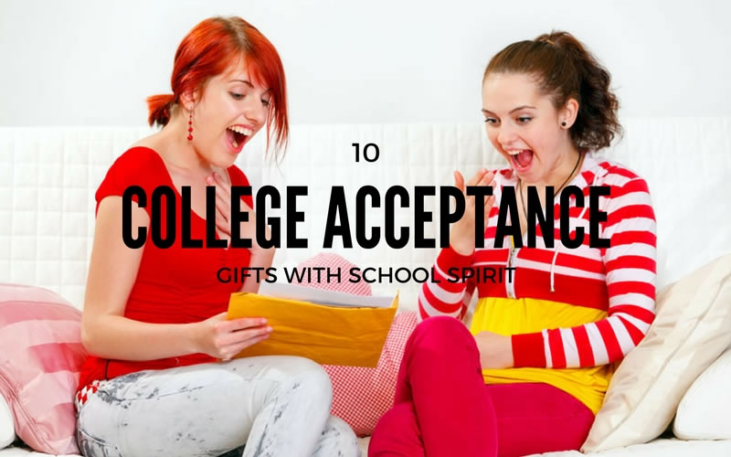 10 College Acceptance Gifts with School Spirit